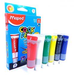 2314 TEMPERA MAPED ColorPeps   6 Colores 15 Cc.  Escolar Caja