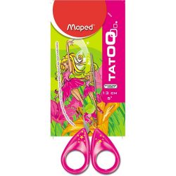 52789 TIJERA MAPED TATOO Girly              Mango Plastico Hojas Forradas Escolar