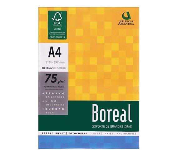 17229 RESMA BOREAL IRAM A4      75 Grs. 210 x 297 Cm. 500 Hs.